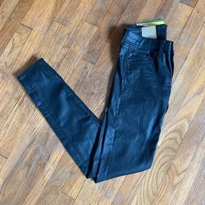 NWT H&M Faux Leather Low-Rise Skinny Jeans